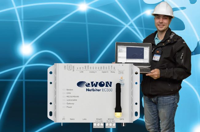 remote monitoring and control of industrial